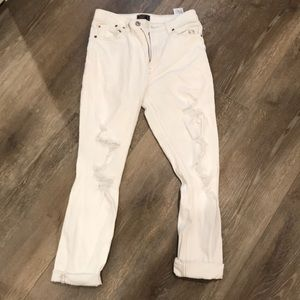 abercrombie white ripped jeans
